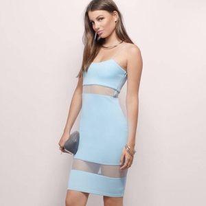 Tobi Baby Blue Mesh Dress Size Medium